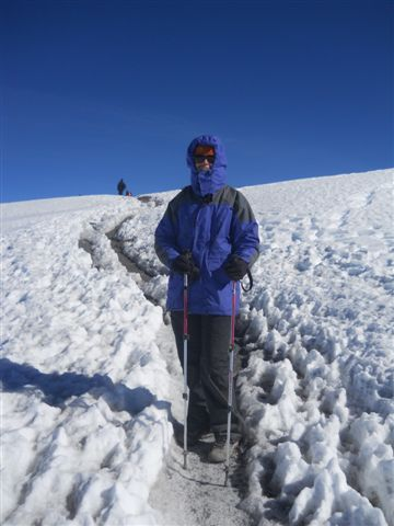 A pc of me on my way to the summit.  Soon after these pics were taken we would see the actual summit for the first time!