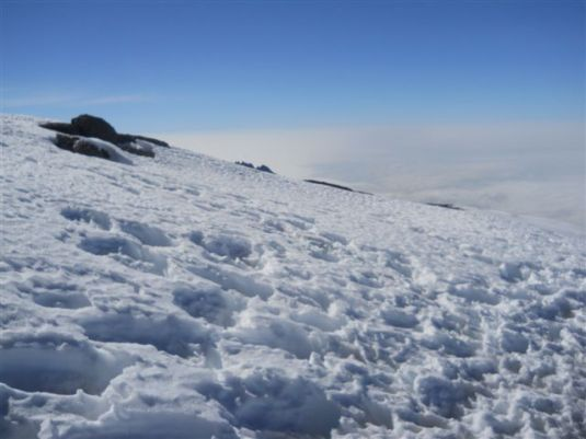 One thing I wanted more than anything in the months leading up to this trip was a snow covered summit ~ I got my wish!