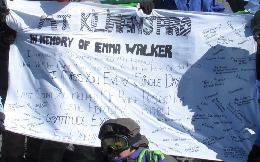 The banner for Emma up close.