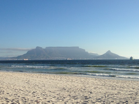 A view that just never gets boring ~ Table Mountain across the bay.