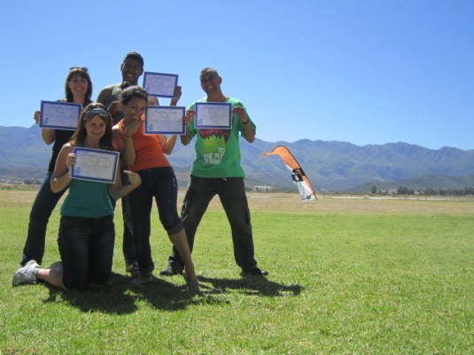 On a natural high ~ adrenaline coursing through our veins and certificates in hand ~ we had done it!!
