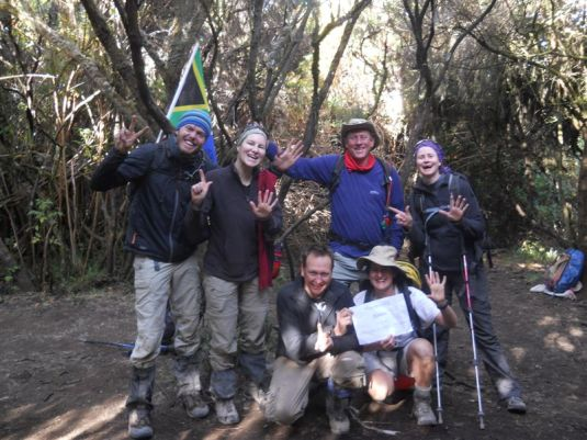 Our amazing team had survived 7 Days on the mountain and now the time had come to head homeward bound.