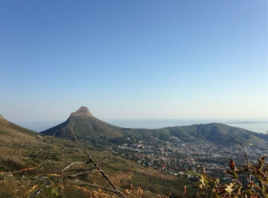 Views of Lions Head and Signal Hill protecting our beautiful city at their feet.