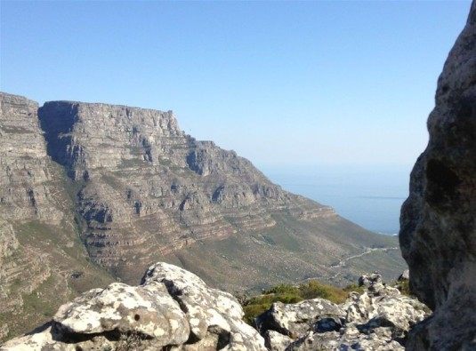 Views of Table Mountain across the way.