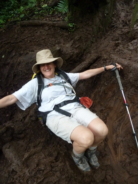 Judi, up ahead of us was having her own adventures in the mud ~ up close and personal!