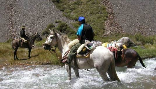 A walk through an ice cold river or a ride on the back of a donkey?!