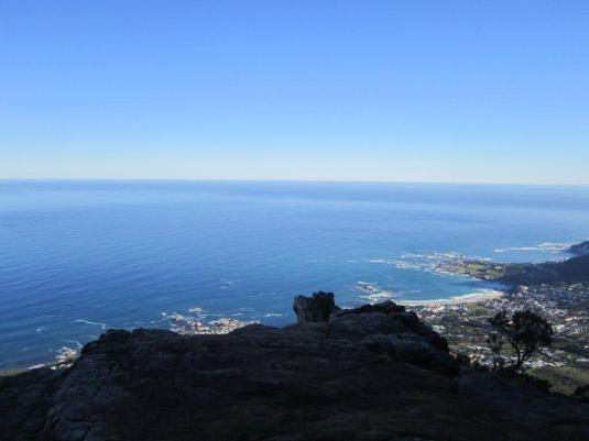 Beautiful views of the Atlantic Seaboard from the shaded ledge we stopped to rest on.