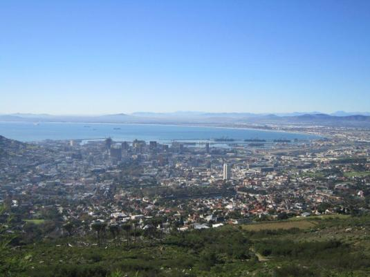 Our beautiful Mother City below.