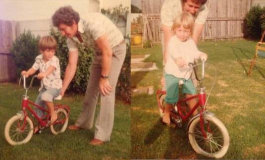 You taught us both how to ride a bike!