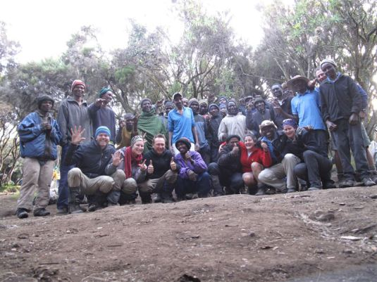 Our entire team on the last day of the mountain ~ what amazing support each and everyone one of these guys gave us!