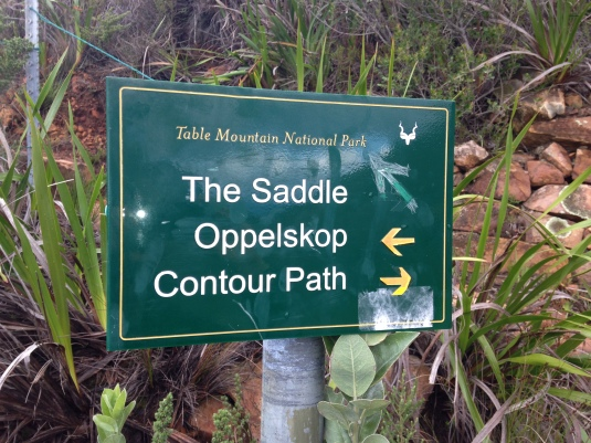 Heading left, we would follow the contour path before climbing up to Oppelskop.