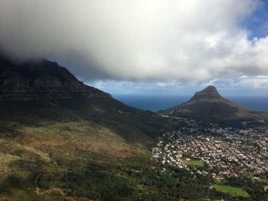 Beautiful views as the clouds parted showing off the front face of Table Mountain and Lions Head in the distance.