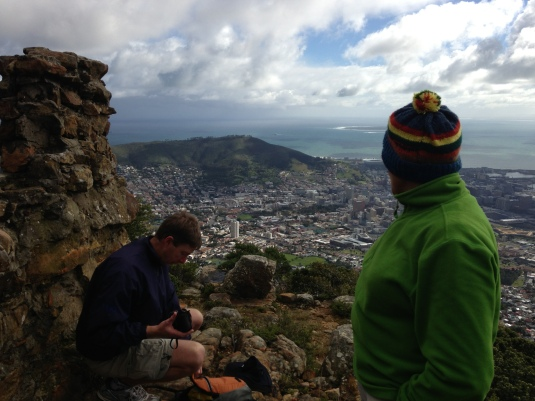 Taking in the view of the Mother City below.