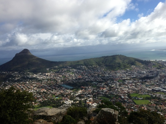 Views of Lions Head and Signal Hill.