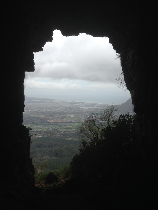 The view looking out of the Elephants Eye.