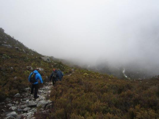 With the low misty clouds covering everything in sight, there was nothing in the sense of views.