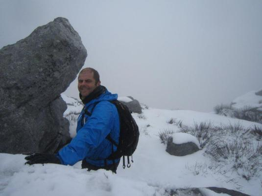 Alan at the summit, it if wasn't for him I'd still be trying to get up that big snow covered rock! Lol