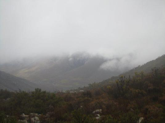 Views across the valley as the cloud cover began to lift slightly.