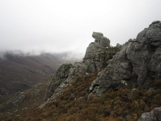With the clouds drawing back, we got to see a little bit of the mountainside.