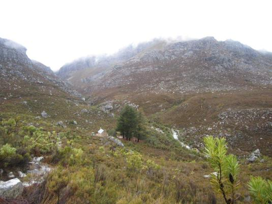 Passing by the Paarl Mountain Hut again as we made our way back to the cars.