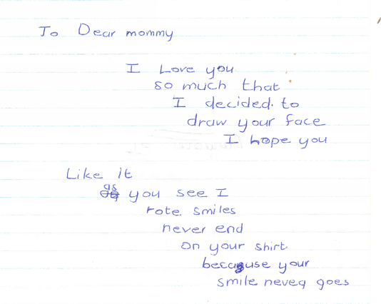I have always been an unrelenting optimist,  even as a young kid, here a letter to my mom with a picture I drew for her.
