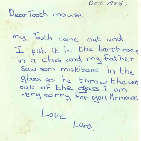 I didn't have much luck as a kid giving my teeth to the Tooth Fairy, as ultimatley something would go wrong...!