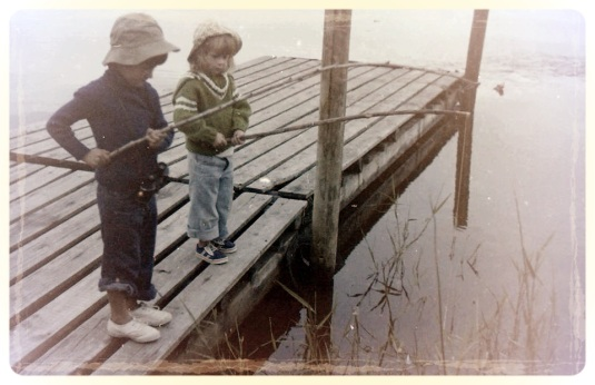 That's me and my brother fishing back in the late 70's ~ Note his nice straight legs all thanks to the the Denis Browne splint!