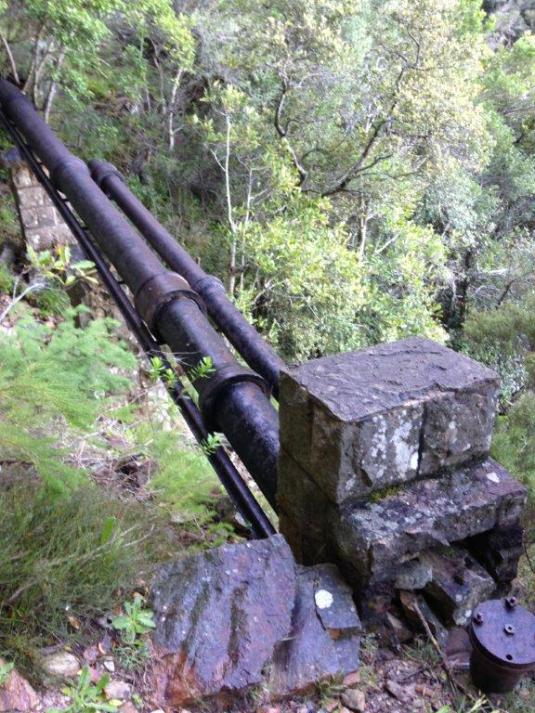 The Pipe Track, literally following the old water pipes along the mountain side.