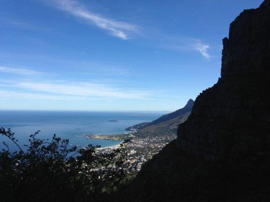 A snack break with beautiful views before us of Lions Head, Camps Bay and Robben Island.