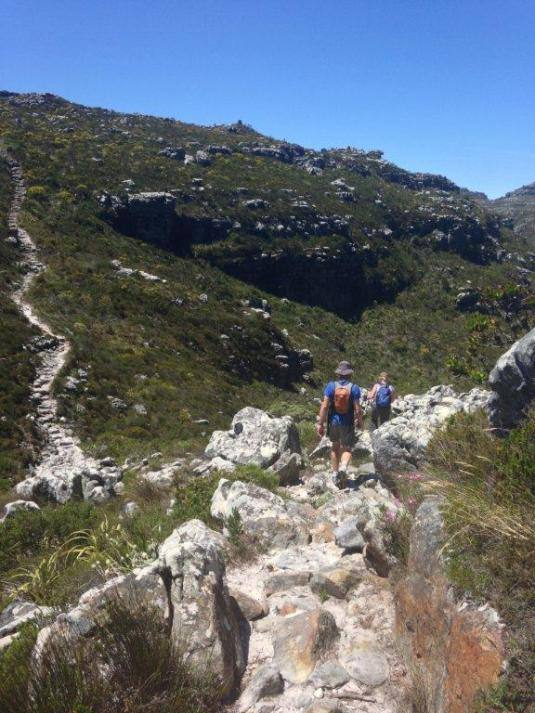 Making our way over the 'table top' towards the dams.
