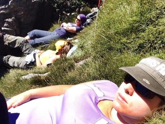 After a good lunch we all four of us lay back on the soft long grass, closed our eyes and snoozed.