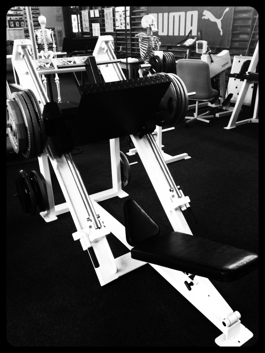The leg press machine ~ all 190kg's!
