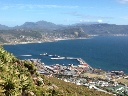 Looking back over the Simons Town Naval Base.