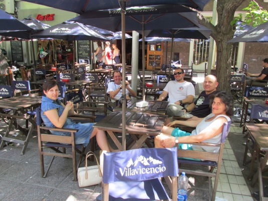 Enjoy a late afternoon as a side-walk cafe in Mendoza with some of the team.