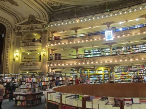 Inside the  El Atenea Book Store.