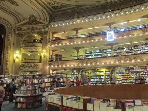Inside the  El Atenea Book Store.