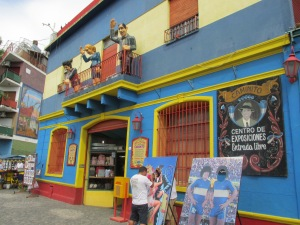 Brightly colours buildings in Caminito to feast your eyes upon.