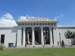 The entrance to Cementerio de Recoleta.