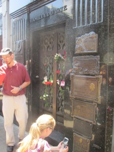 Evita Person´s final resting place in Cementerio de Recoleta.