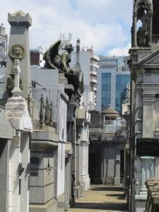 Inside Cementerio de Recoleta.