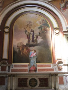 Artwork inside the cathedral.