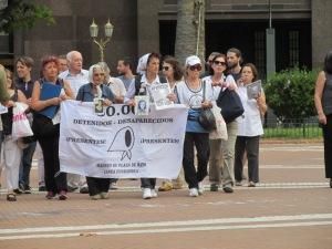 The second, smaller group of ´Mothers of the Disappeared.´
