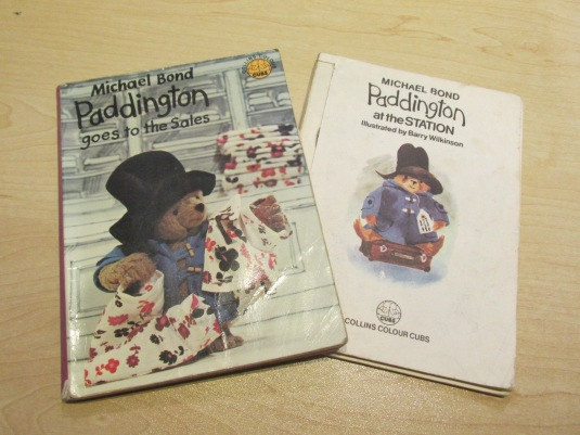 Two of my old Paddington Bear books I found at my parents house.