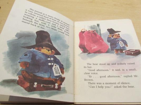 "Paddington Bear waiting for someone to ""claim"" him at the station."