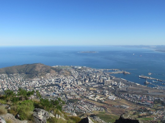 Views of Robben Island, Signal Hill, the Mother City and Cape Town Harbour.