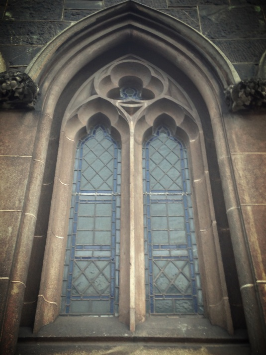 The beautiful church windows.