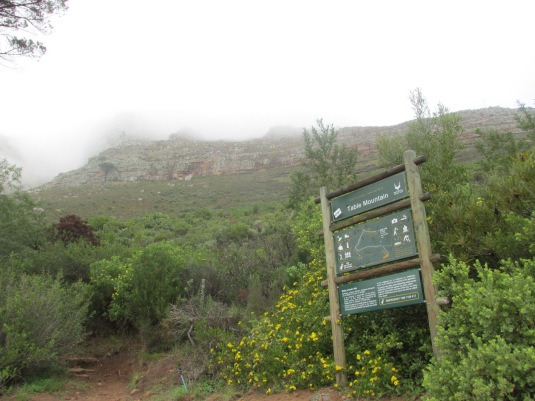 This is where we started our hike but I took this pic on the way back as when we started you could see nothing behind the sign due to the thick mist.