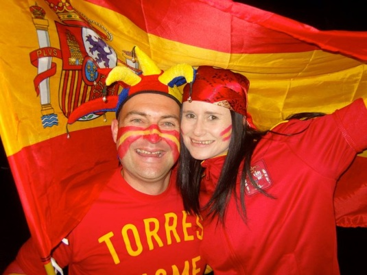 I was heartbroken my team crashed out of the SWC 2010 in the semi-finals against Spain but I was a good friend and for the final I dressed in the colours of Spain and supported my friend supporting his team. I know one day he will return the favour!