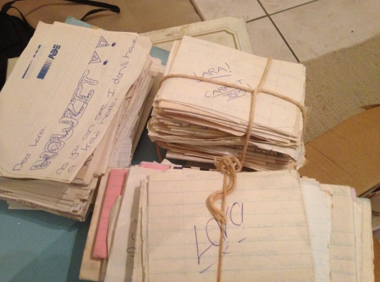 Before cellphones and email. These were the good old days. I still have a box full of our letters and notes!