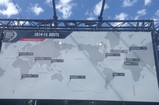 The route of the Volvo Ocean Race. Bucket list #....?!!